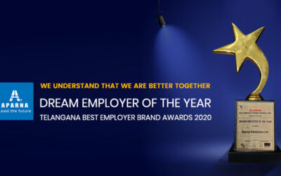 Aparna Enterprises Ltd. recognized as the Dream Employer of the Year