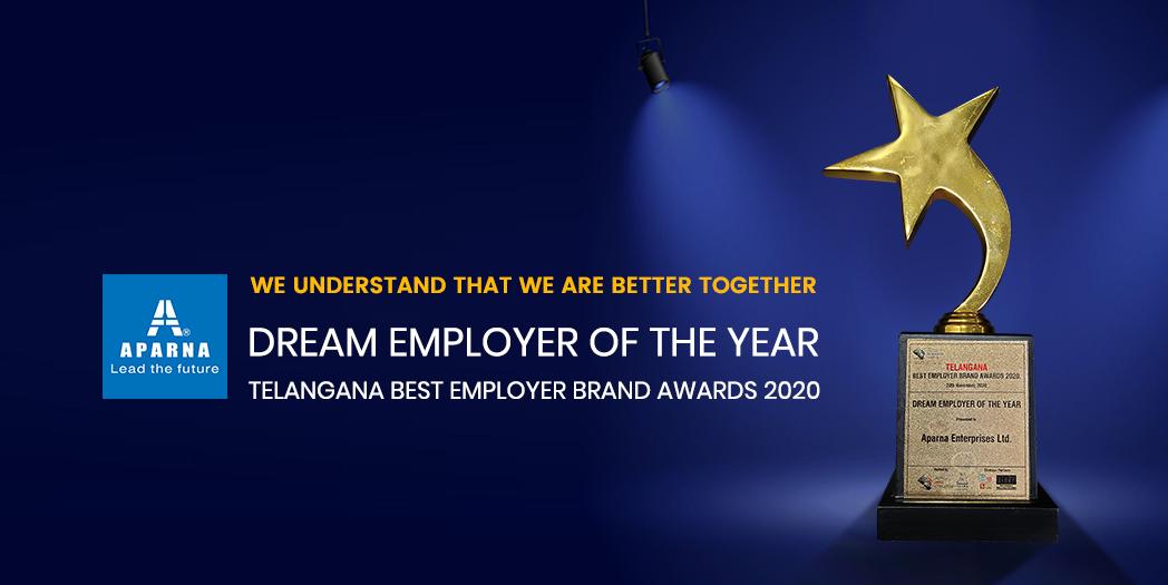 Aparna Enterprises Ltd. recognized as the Dream Employer of the Year
